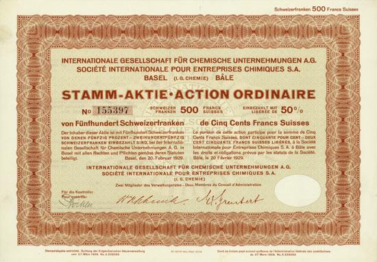 Internationale Gesellschaft für Chemische Unternehmungen (I.G. Chemie)