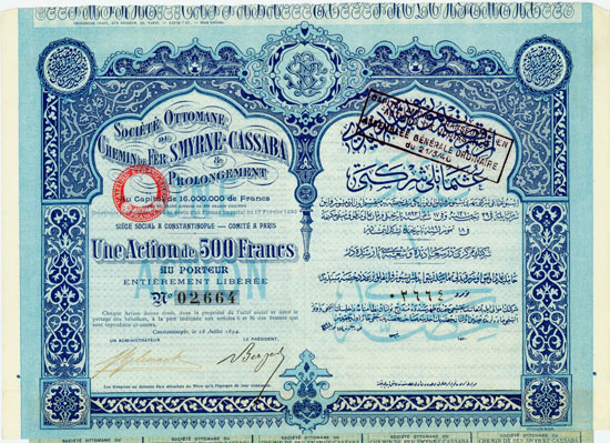Société Ottomane du Chemin de Fer Smyrne-Cassaba & Prolongement