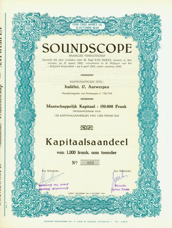 Soundscope Naamlooze Vennootschap