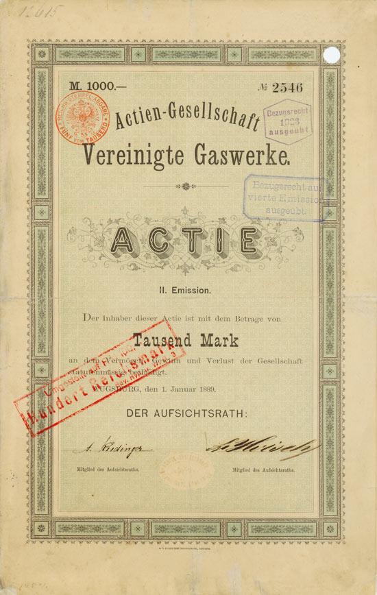 Actien-Gesellschaft Vereinigte Gaswerke