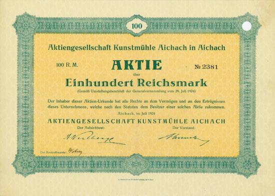 Aktiengesellschaft Kunstmühle Aichach