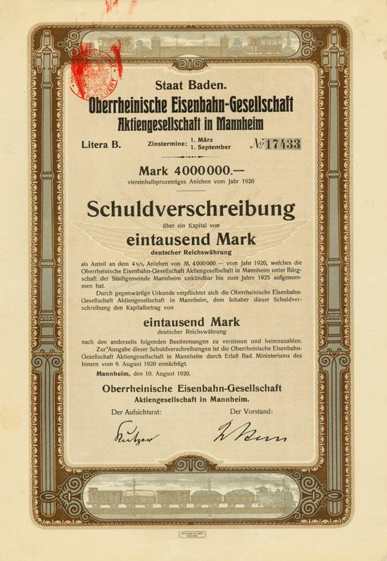 Oberrheinische Eisenbahn-Gesellschaft