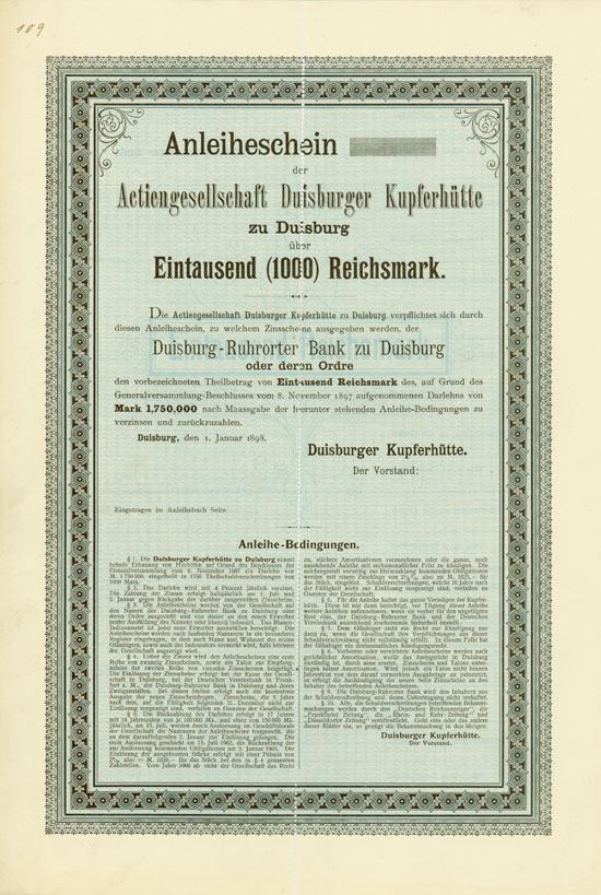 Actiengesellschaft Duisburger Kupferhütte