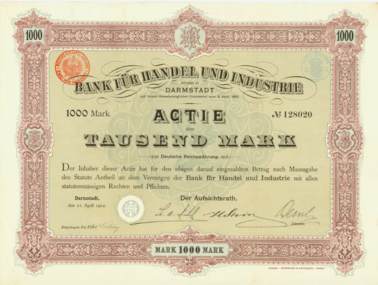 Bank für Handel und Industrie