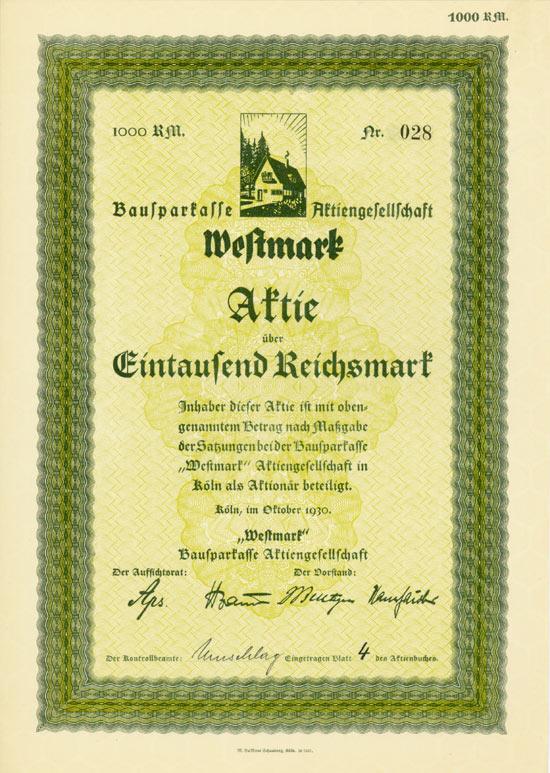 "Bausparkasse ""Westmark"" AG"