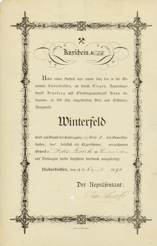 Blei- und Silbererzbergwerk Winterfeld