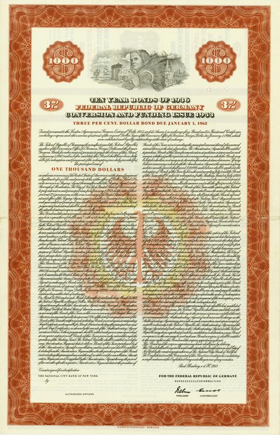 Bundesrepublik Deutschland - German External Loan 1924