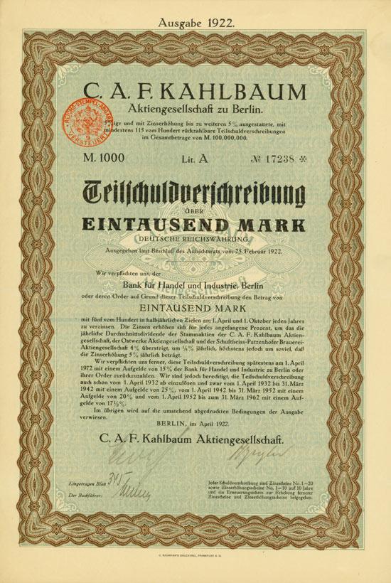 C. A. F. Kahlbaum AG