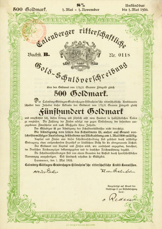 Calenberg-Göttingen-Grubenhagen-Hildesheim'sche ritterschaftliche Kredit-Kommission