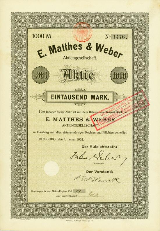 E. Matthes & Weber AG