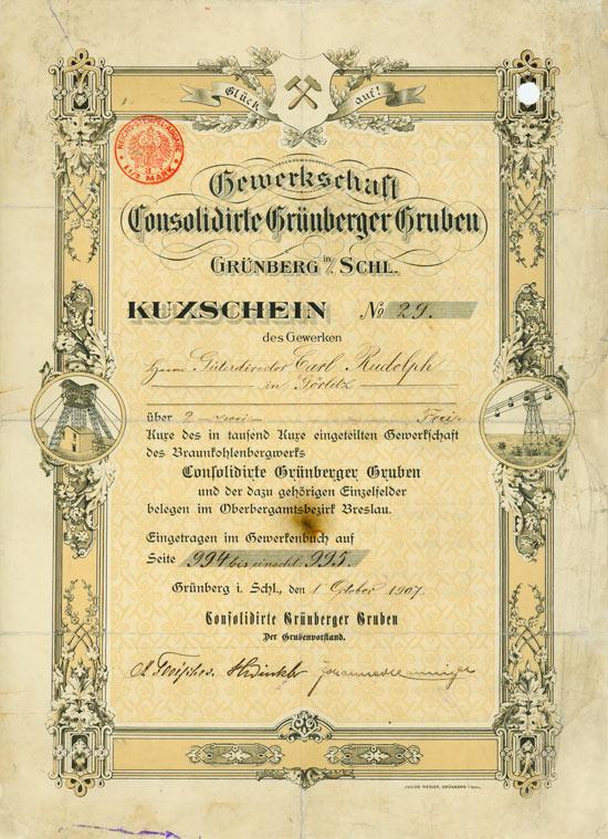 Gewerkschaft Consolidirte Grünberger Gruben