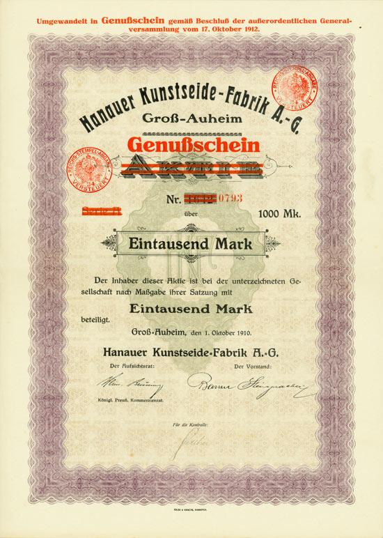 Hanauer Kunstseide-Fabrik A.-G.