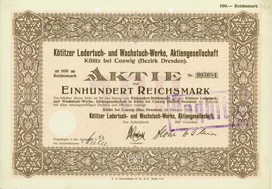 Kötitzer Ledertuch- und Wachstuch-Werke AG