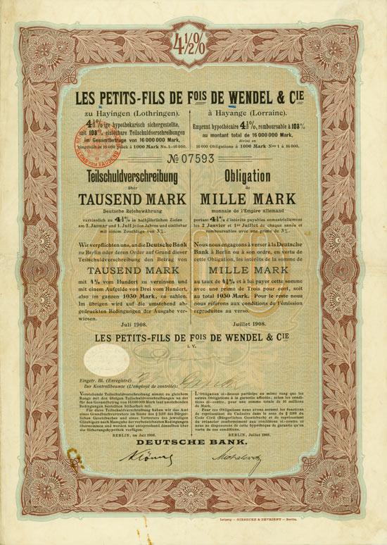 Les Petits-Fils de Fois de Wendel & Cie.