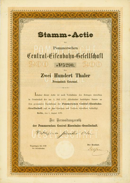 Pommersche Central-Eisenbahn-Gesellschaft