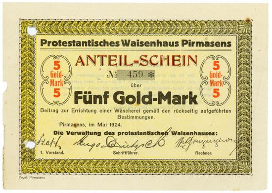 Protestantisches Waisenhaus Pirmasens
