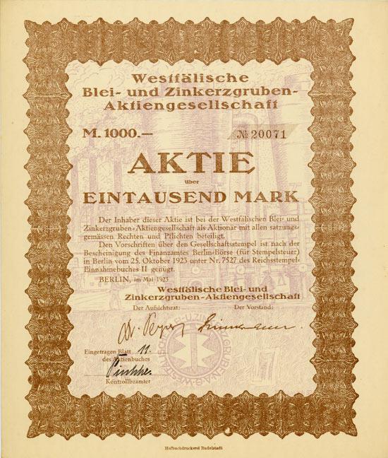 Westfälische Blei- und Zinkerzgruben-AG