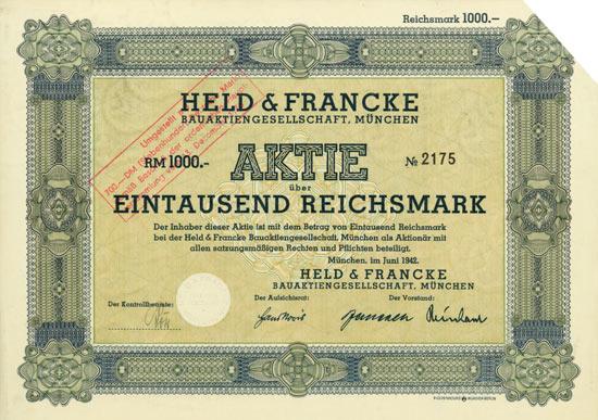 Held & Francke Bauaktiengesellschaft