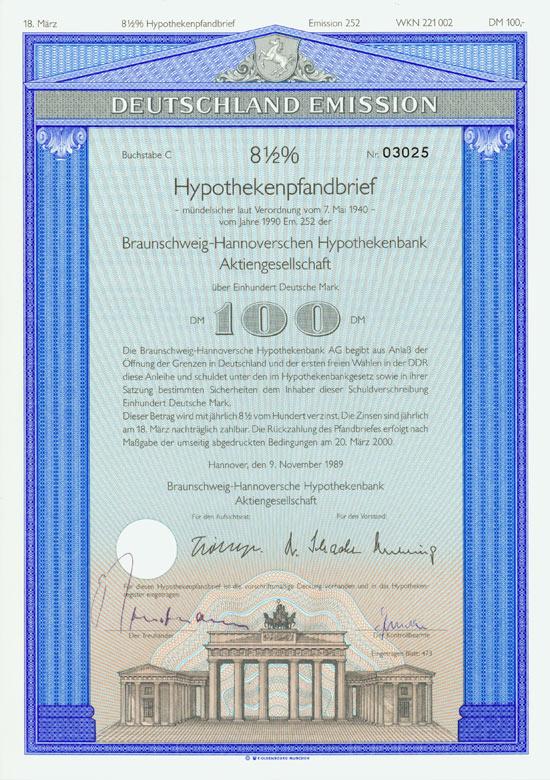 Braunschweig-Hannoversche Hypothekenbank AG [Multiauktion 2]