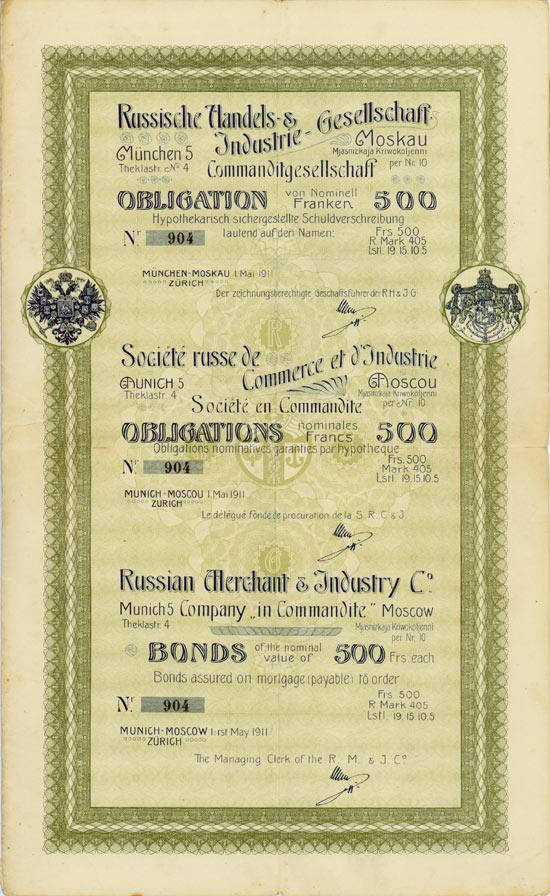 Russische Handels- & Industrie-Gesellschaft Commanditgesellschaft