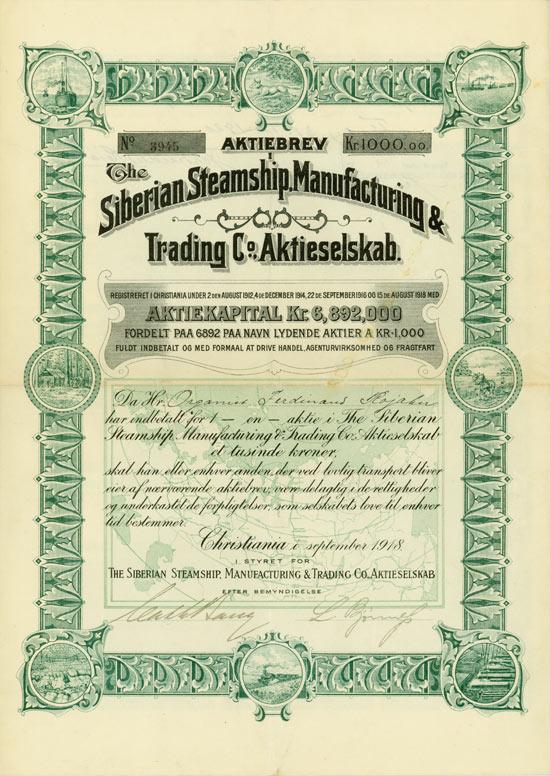 Siberian Steamship, Manufacturing & Tradind Co. Aktieselskab