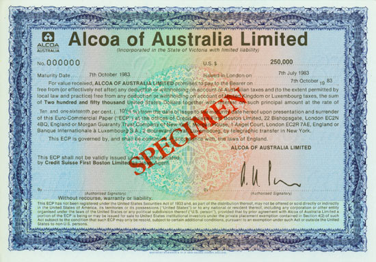 Alcoa of Australia Limited