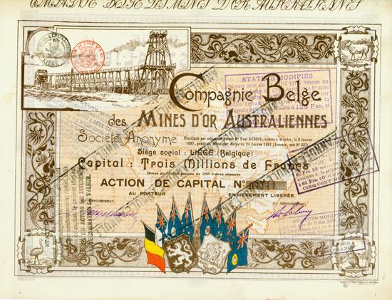 Compagnie Belge des Mines d'or Australiennes