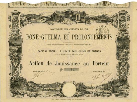 Compagnie des Chemins de Fer de Bone-Guelma & Prolongements