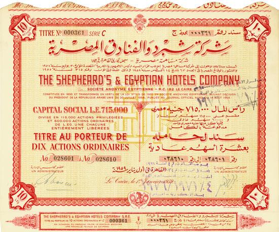Shepheard's & Egyptian Hotels Company [2 Stück]
