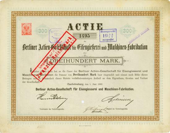 Berliner AG für Eisengießerei und Maschinen-Fabrikation