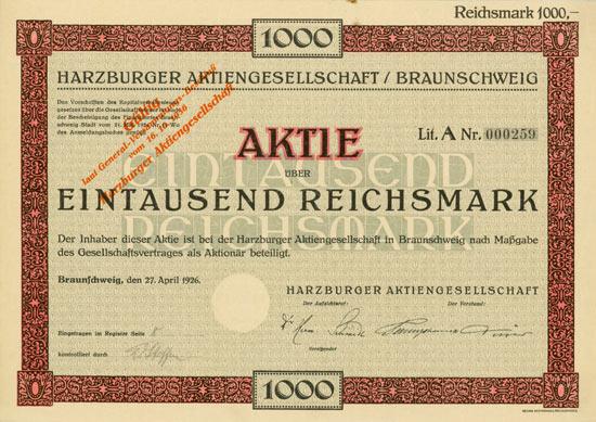 Harzburger AG