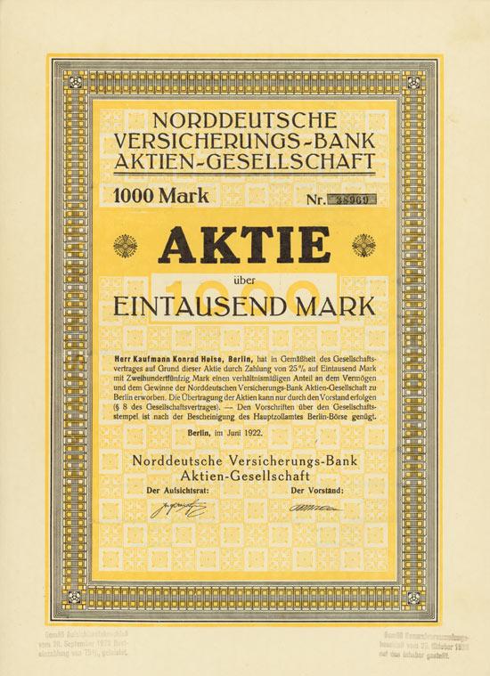 Norddeutsche Versicherungs-Bank AG