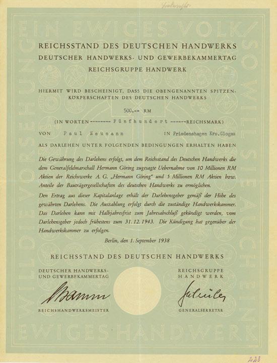 Reichsstand des Deutschen Handwerks
