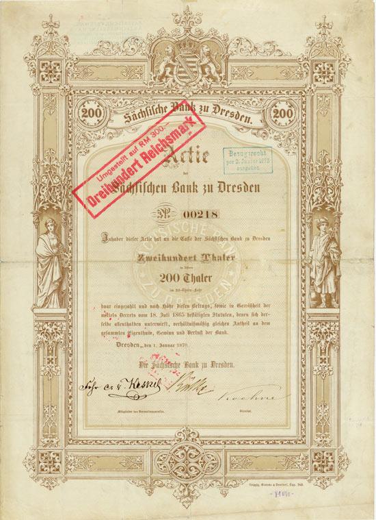 Sächsische Bank zu Dresden