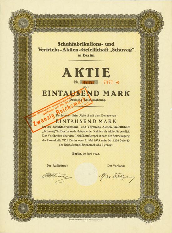 Schuhfabrikations- und Vertriebs-AG