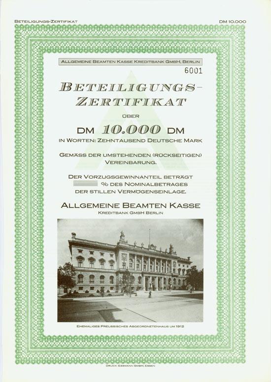 Allgemeine Beamten Kasse Kreditbank GmbH