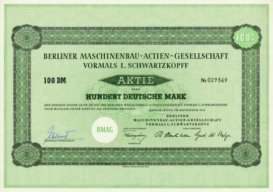 Berliner Maschinenbau-AG vormals L. Schwartzkopff