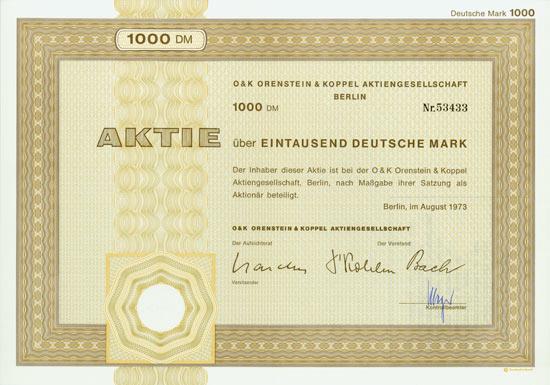 O&K Orenstein & Koppel AG