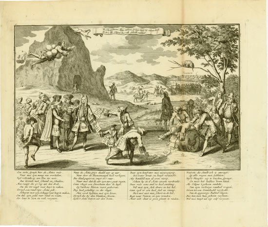 John Law: The falsely-fair share-sphinx springs down from the high rocks, Oedipus having discovered the false secret.
