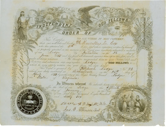 Independent Order of Odd Fellows - Fritzhugh Lodge No. 93