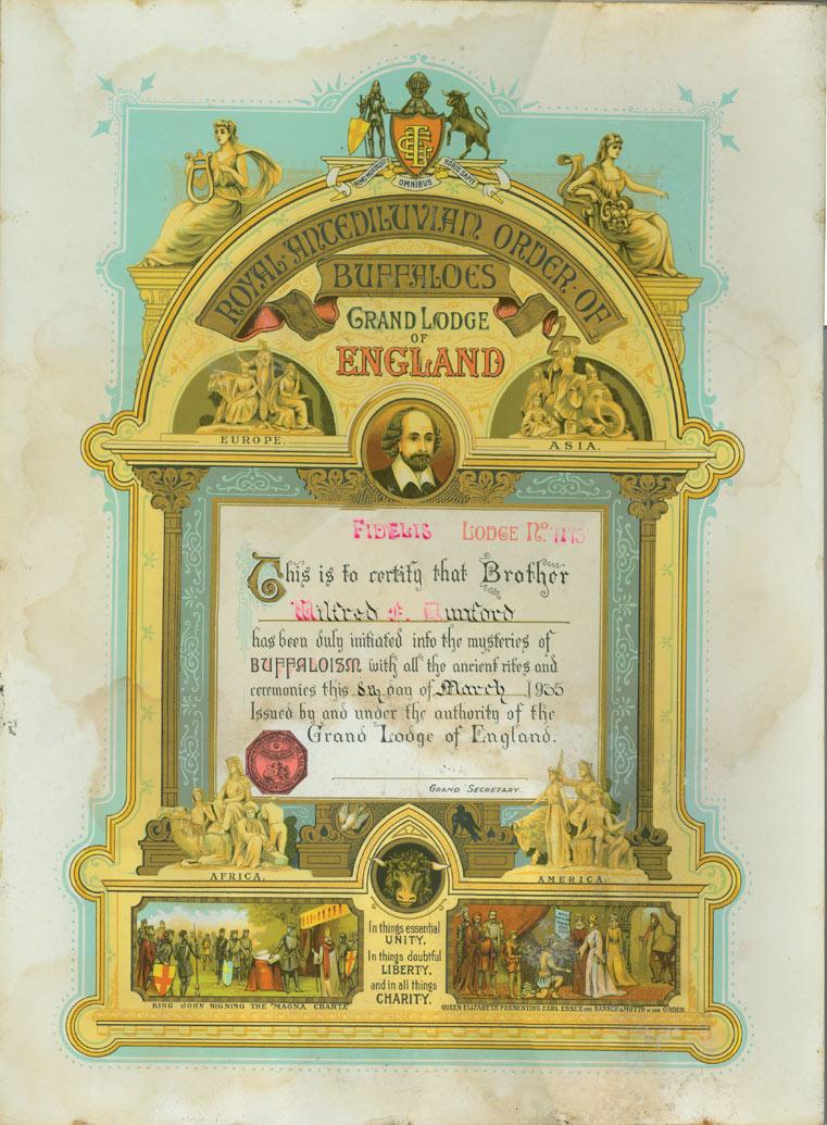 Royal Antediluvian Order of Buffaloes - Fidelis Lodge No. 7175