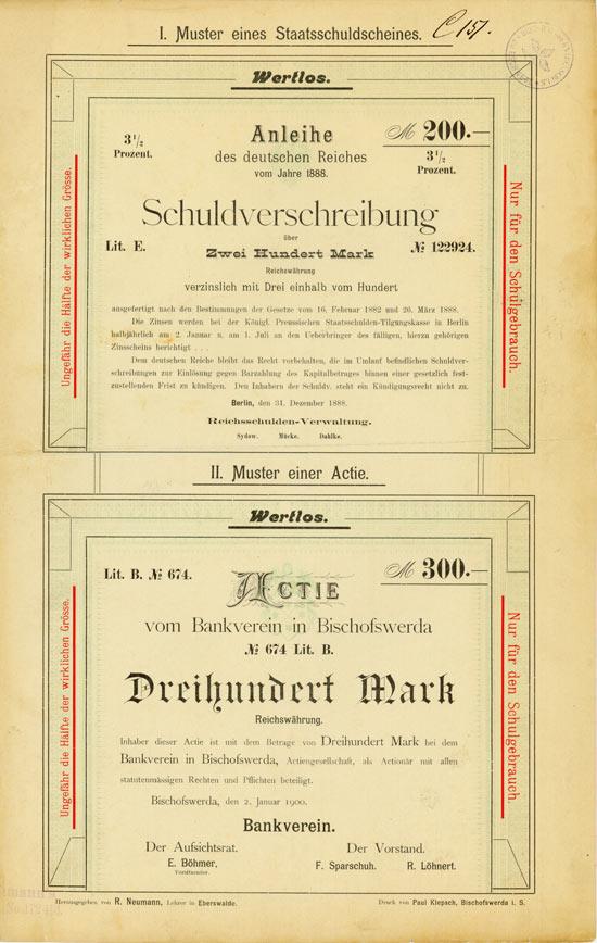 Bankverein in Bischofswerda / Deutsches Reich