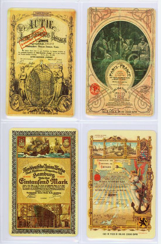 Telefonkarten mit Historischen Wertpapieren [4 Stück]