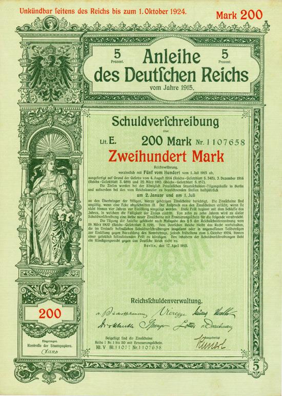 Deutsches Reich [6 Stück]