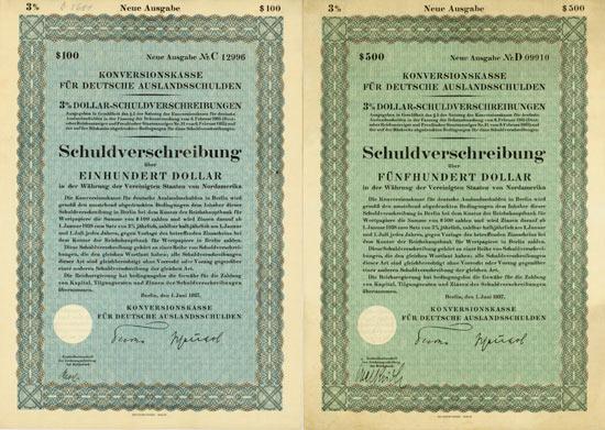 Konversionskasse für Deutsche Auslandsschulden [15 Stück]