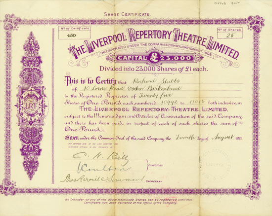Liverpool Repertory Theatre, Limited