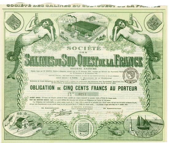 Société Salines du Sud-Ouest de la France