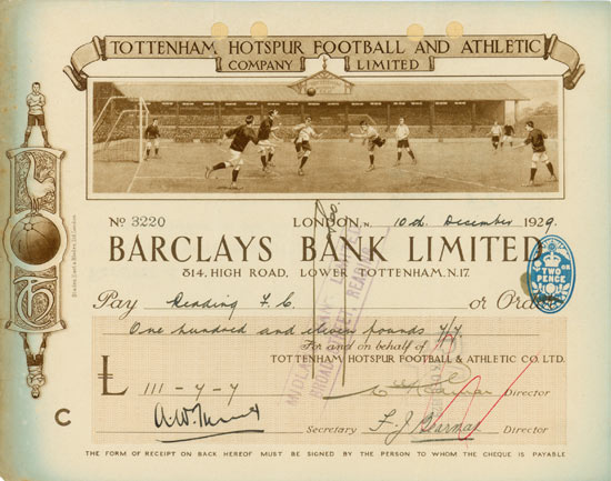 Tottenham Hotspur Football and Athletic Company Limited