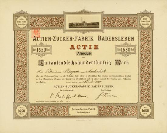 Actien-Zucker-Fabrik Badersleben