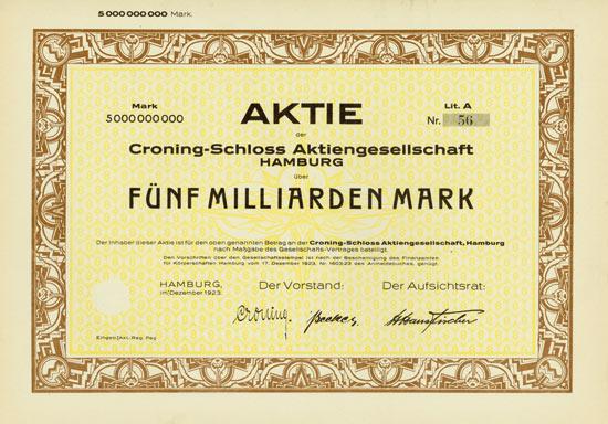 Croning-Schloss AG [Multiauktion 2]